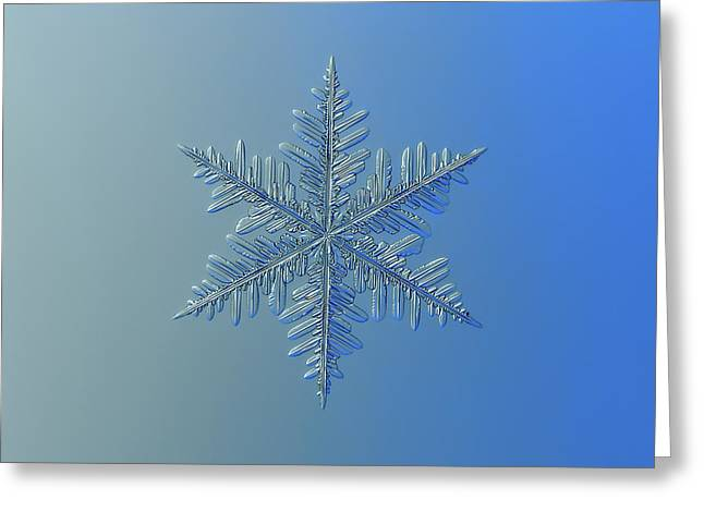 Greeting Card featuring the photograph Snowflake Photo - Winter Is Coming by Alexey Kljatov