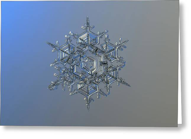 Snowflake Photo - Crystal Of Chaos And Order Greeting Card by Alexey Kljatov