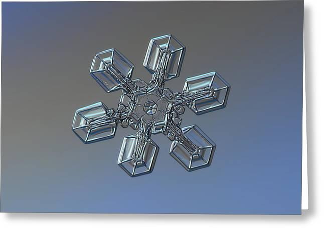 Snowflake Photo - High Voltage Greeting Card by Alexey Kljatov