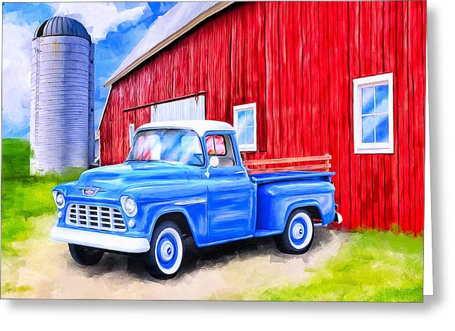 Tales From The Farm Greeting Card by Mark Tisdale