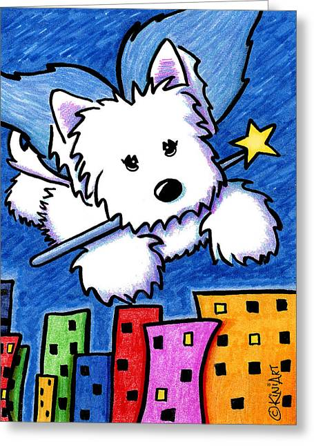 Fairy Princess Westie Greeting Card