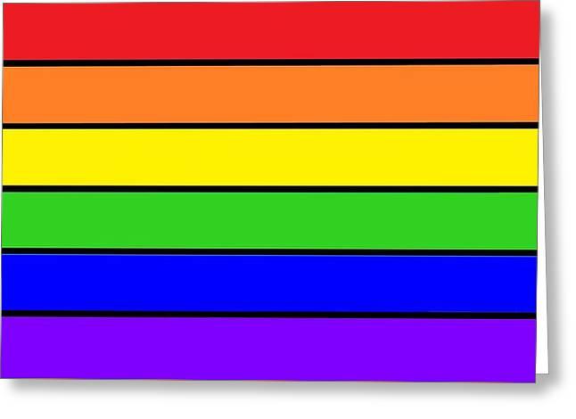 Rainbow Greeting Card by Johari Smith