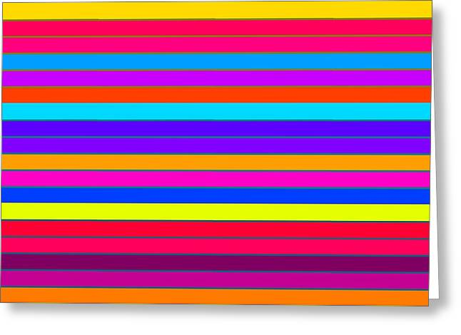 Colorful Stripes Greeting Card by Johari Smith