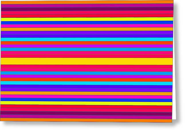 Colorful Stripes 2 Greeting Card by Johari Smith