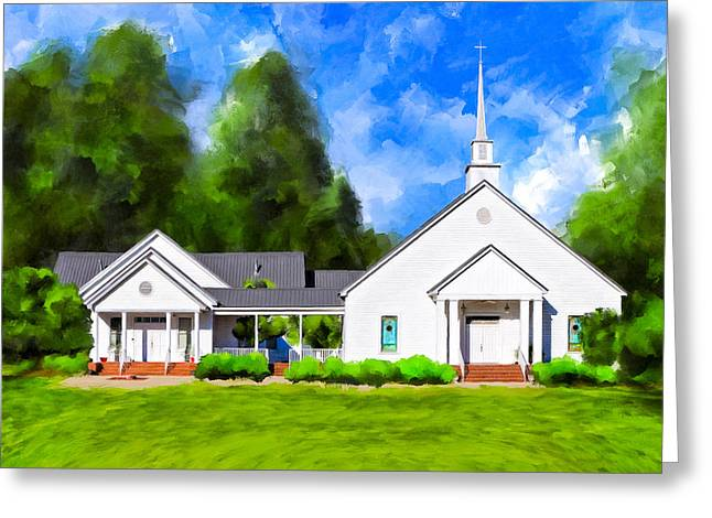 Old Country Church - Whitewater Baptist Greeting Card by Mark Tisdale