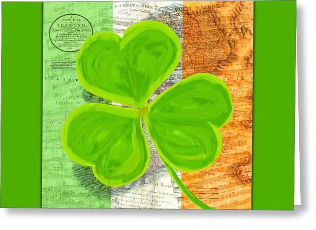 An Irish Shamrock Collage Greeting Card