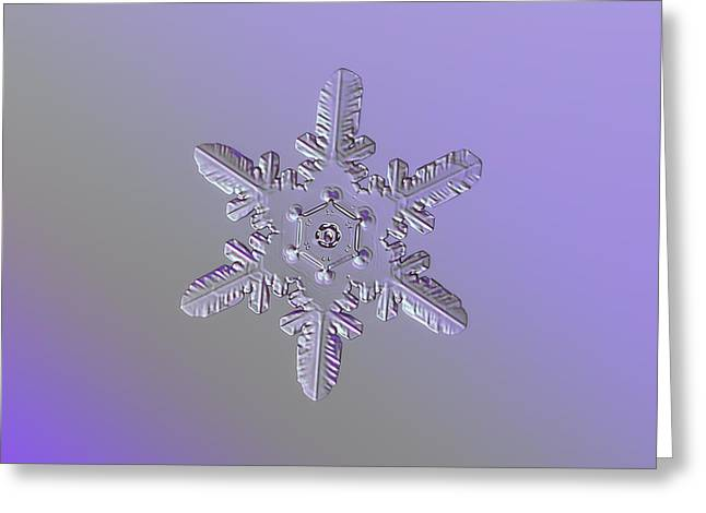 Snowflake Photo - Heart-powered Star Greeting Card by Alexey Kljatov