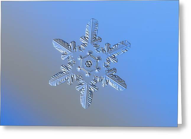 Snowflake Photo - Heart-powered Star Alternate Greeting Card by Alexey Kljatov