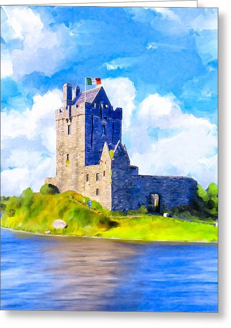 On Irish Shores - Dunguaire Castle Greeting Card