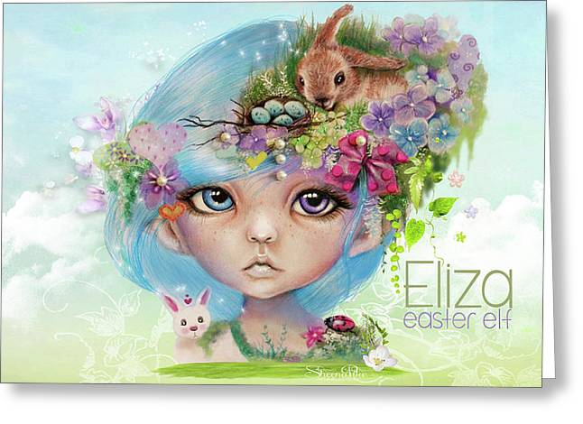 Eliza - Easter Elf - Munhkinz Character Greeting Card by Sheena Pike