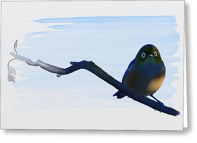 Eye To Eye With Silvereye Greeting Card