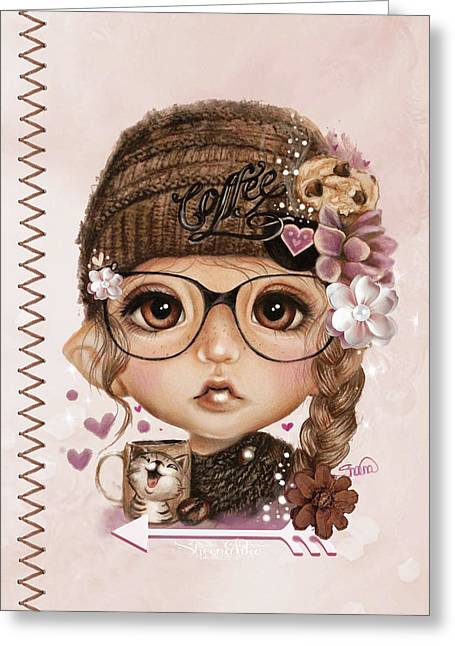 Java Joanna Greeting Card