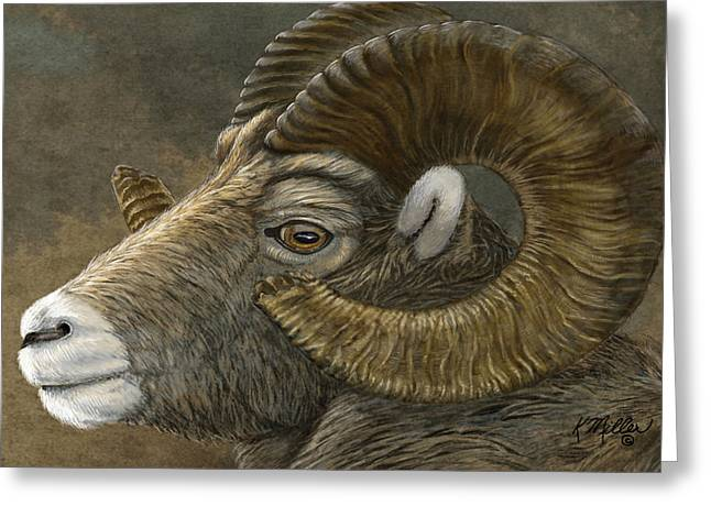 Bighorn Greeting Card by Kathie Miller