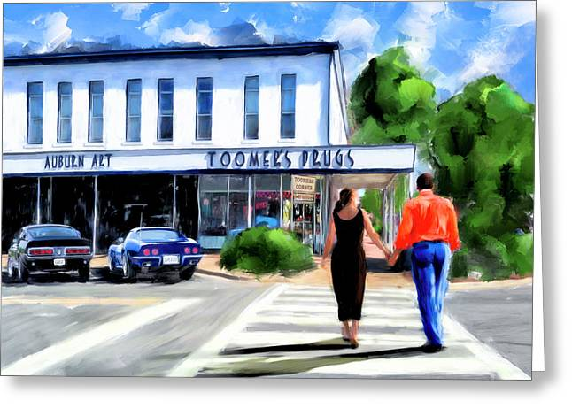 Spirit Of Auburn - Toomer's Corner Greeting Card