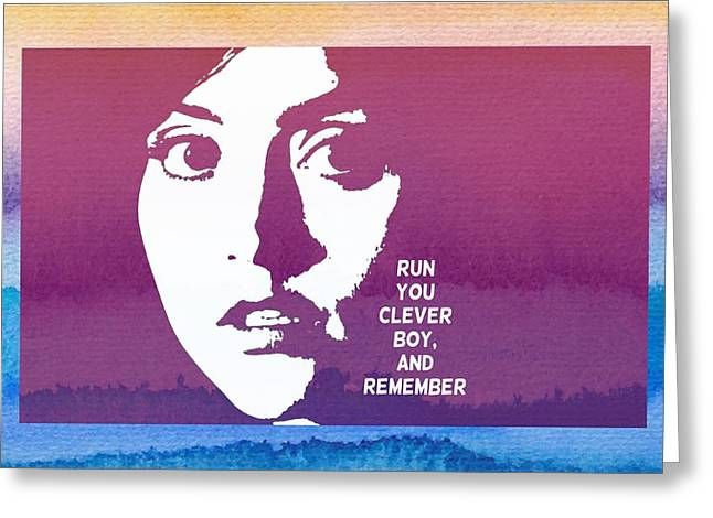Doctor Who Inspired Clara, Run You Clever Boy Greeting Card