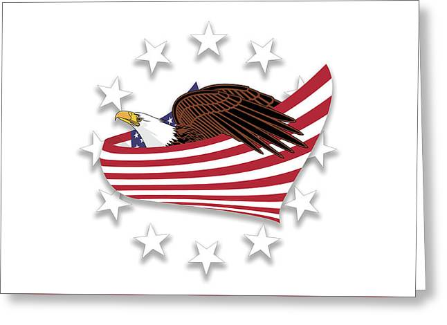 Eagle Of The Free V1 Greeting Card by Bruce Stanfield