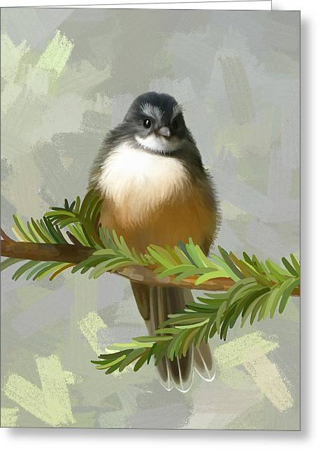 Greeting Card featuring the painting Fantail  by Ivana Westin
