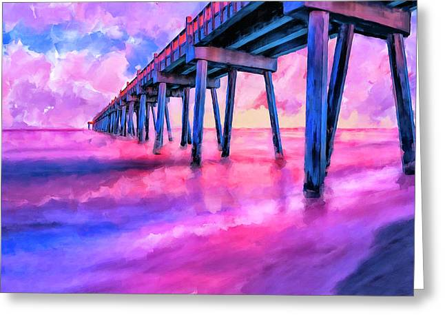 In The Pink On Pensacola Beach Greeting Card