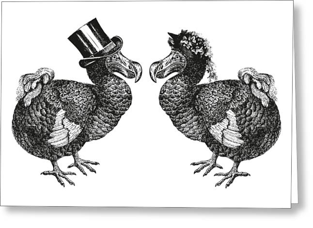 Mr And Mrs Dodo Greeting Card