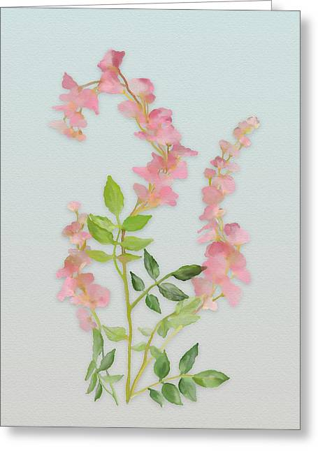Pink Tiny Flowers Greeting Card