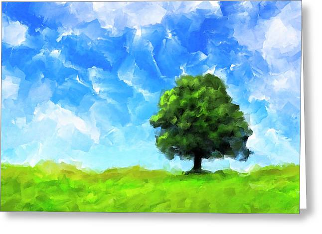 Solitude - Lone Tree Landscape Greeting Card by Mark Tisdale