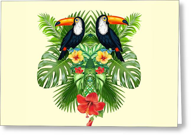 Tropical Summer  Greeting Card by Mark Ashkenazi