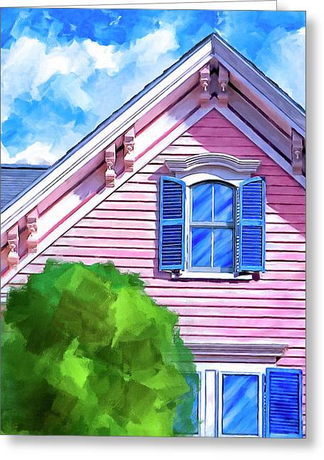 Victorian Charm - Classic Architecture Greeting Card