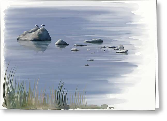 Gull Siesta Greeting Card