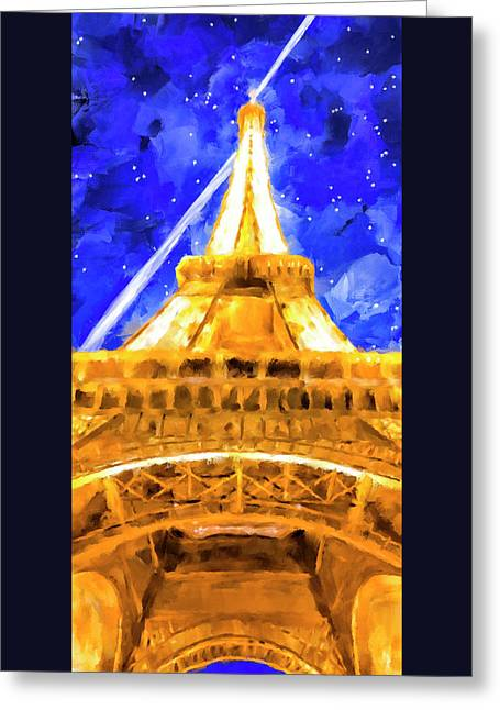 Paris Ascending Greeting Card by Mark Tisdale