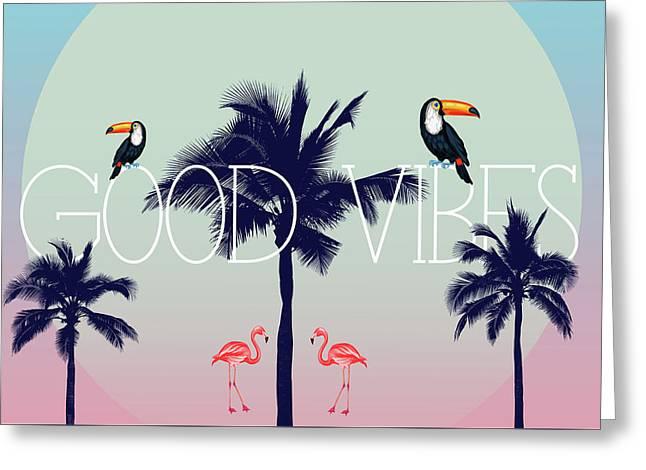 Good Vibes 2 Greeting Card