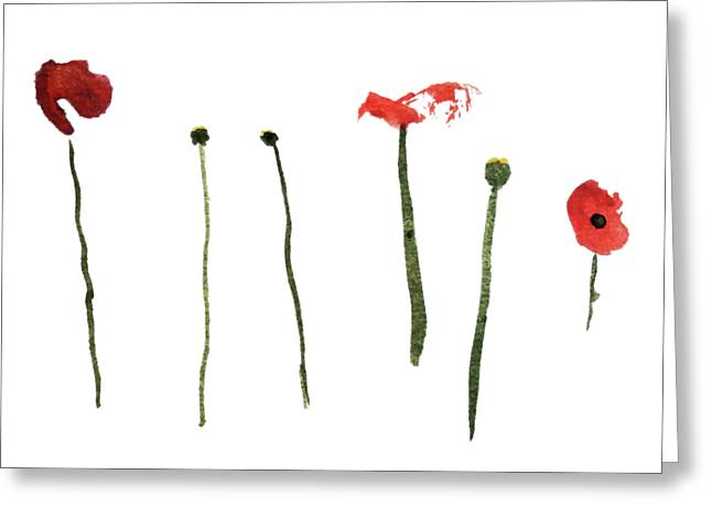 Red Poppies Greeting Card by Stephanie Peters