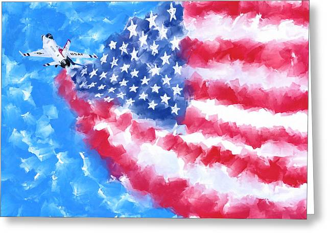 Skies Over America Greeting Card by Mark Tisdale