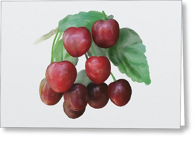 Sour Cherry Greeting Card
