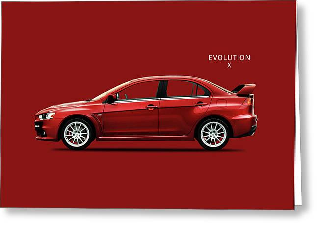 The Lancer Evolution X Greeting Card