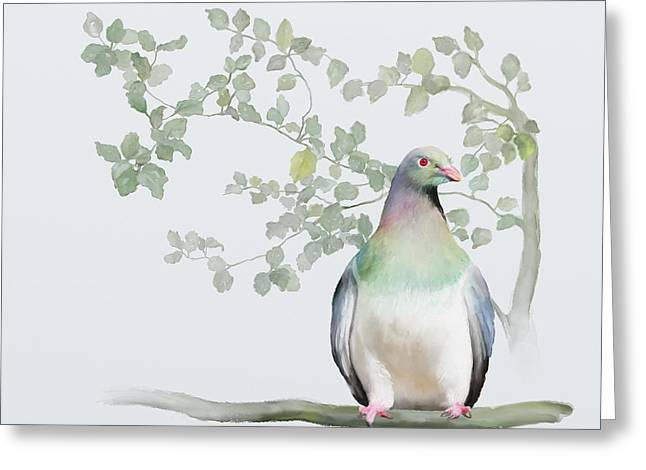 Wood Pigeon Greeting Card by Ivana Westin