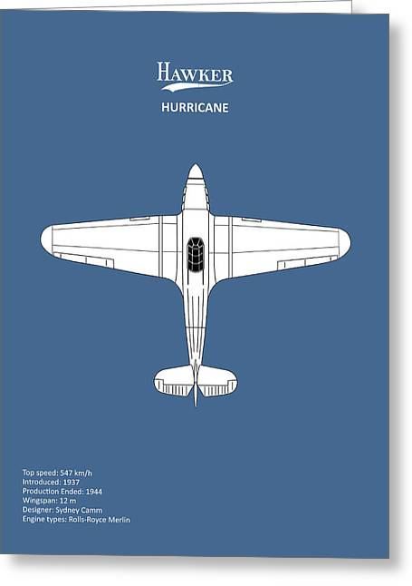 The Hawker Hurricane Greeting Card by Mark Rogan