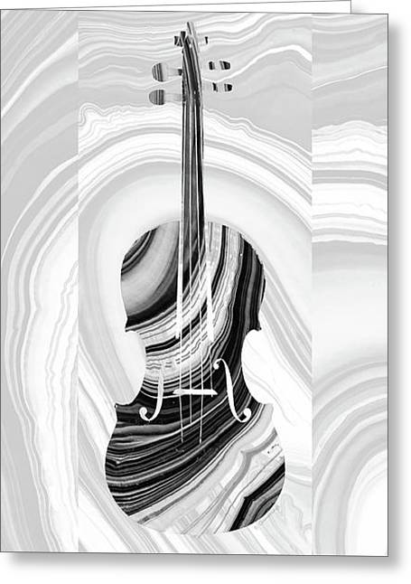 Marbled Music Art - Violin - Sharon Cummings Greeting Card by Sharon Cummings