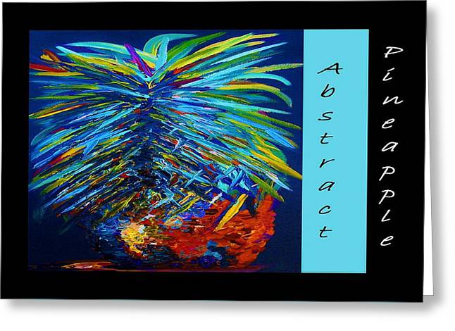 Abstract Pineapple Greeting Card by Eloise Schneider