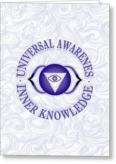 Third Eye Chakra Greeting Card by Gaspar Avila