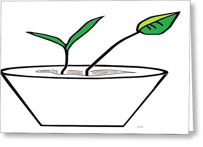 Minimalist Pot Plant Greeting Card