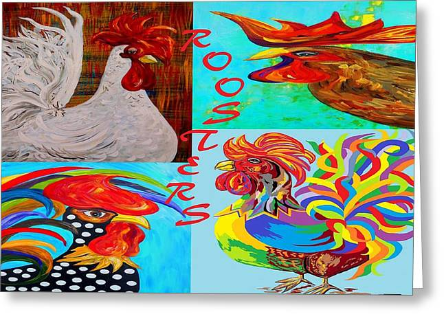 Rooster Menagerie Greeting Card