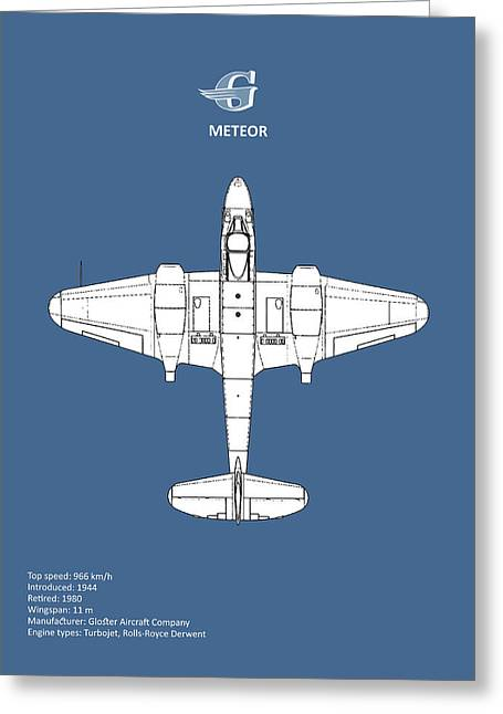 The Gloster Meteor Greeting Card by Mark Rogan