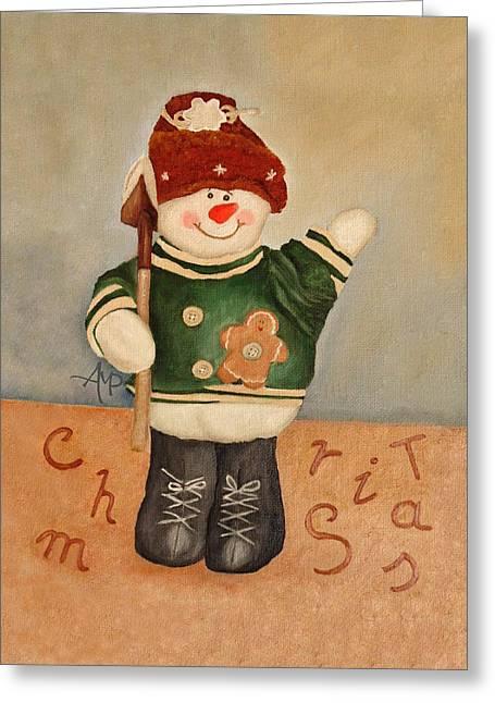 Snowman Junior Greeting Card