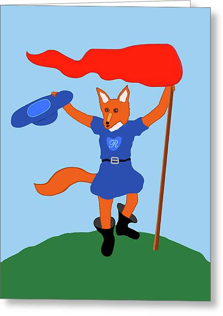 Reynard The Fairy Tale Fox Greeting Card by Marian Cates