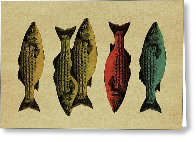 One Fish, Two Fish . . . Greeting Card by Meg Shearer