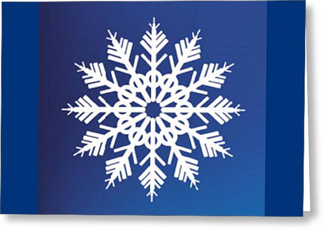 Snowflake Blue  Greeting Card