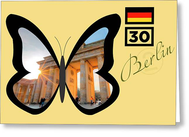 Cities Of The World   Berlin 1 Greeting Card