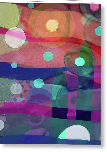 Dayglo Dream Greeting Card by Cathy Jacobs