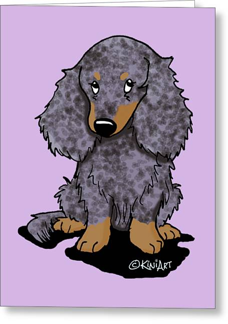 Dapple Doxie Greeting Card by Kim Niles