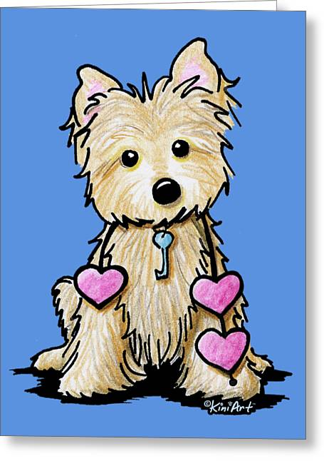 Heartstrings Cairn Terrier Greeting Card
